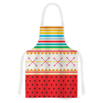 "Famenxt ""Watermelon Arrows and Colors"" -Tags Artistic Apron"