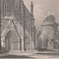 Antique Print West End of Kirkwall Cathedral Scotland (A35) by Grandpa's Market