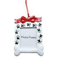 Paw Print Dog Picture Frame Christmas Ornament