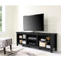 """Top Product Reviews for 70"""" Essentials TV Stand - Black - Overstock.com - Mobile"""