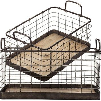 Anderson Tray - Set of 2 - Bins & Baskets - Storage & Organization - Storage & Display | HomeDecorators.com