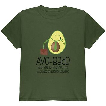 Avocado Abogado Lawyer Funny Spanish Pun Youth T Shirt