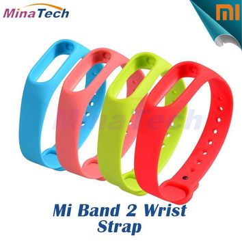 High Quality Silicone Colorful Straps Replacement For Xiaomi Mi Band 2 Wrist Strap Miband 2 Smart Bracelet Wristband Accessories