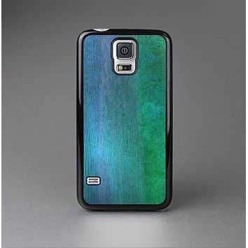 The Vivid Green Watercolor Panel Skin-Sert Case for the Samsung Galaxy S5