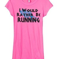 Cross Country I Would Rather Be Running Short Sleeve Longer Length Shirt