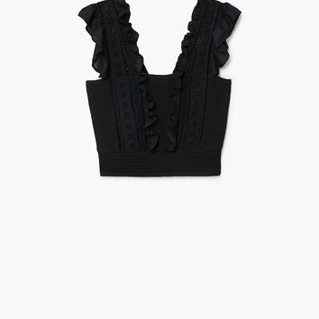 Openwork knit top - Woman | MANGO Denmark