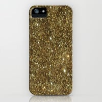 Gold Glitter iPhone & iPod Case by NatalieBoBatalie