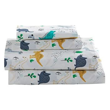 Twin Retro Reptile Sheet Set
