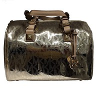 Michael Kors Grayson Medium Mirror Metallic Satchel