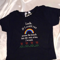 SWEET LORD O'MIGHTY! INTO MY OWN ARMS CROP TEE