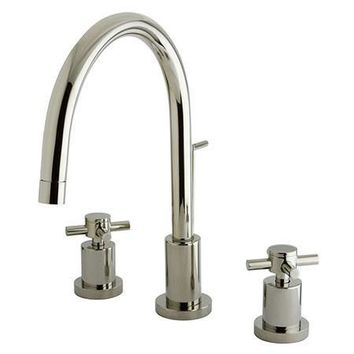 KS8926DX  KS8926DX Concord Two Handle Widespread Lavatory Faucet with Brass Pop-Up