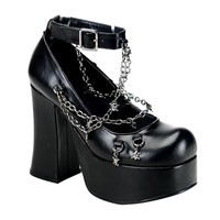 CHARADE-28 Gothic Ankle Strap Platforms - Demonia Shoes