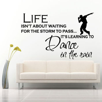 Wall decal decor decals sticker art vnyl design life dance studio like watching hip-hop house dancehall inscription phrase Bedroom (m1257)