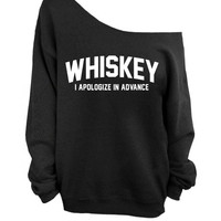 Slouchy Oversized Sweater - Whiskey - I apologize in advance - Black