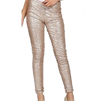 Sparkling Gold Sequin Pant