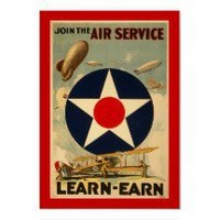 "Join The Air Service ""Learn-Earn"" (Red Border) Posters"
