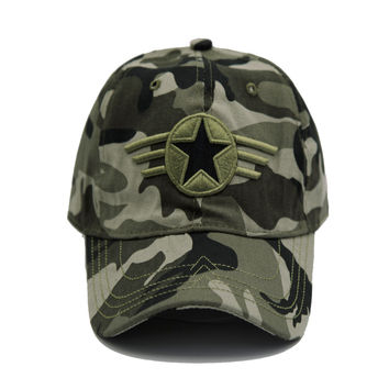 100% Cotton Men Pentagram Cap Tactical Baseball Caps Camouflage Fishing Hat Camo Snapback Hats Bone Adjustable