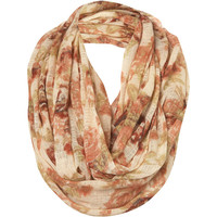 Cream Floral Print Snood