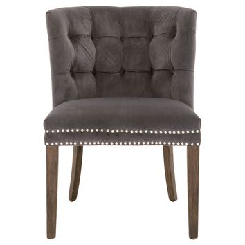 Spencer Accent Chair Pewter Velvet