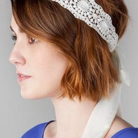 BARI CROCHET TIE HEAD WRAP