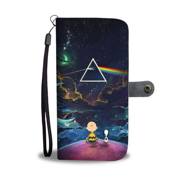 KUYOU Pink Floyd Snoopy Dark Side Of The Moon Wallet Phone Case
