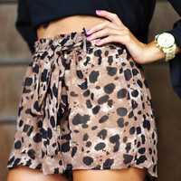 RESTOCK: Spotted Leopard Shorts | Hope's
