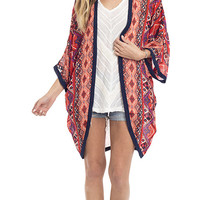 Go With The Flow Printed Kimono