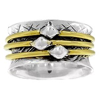 Spinner Ring -  Two Tone Simple Ring