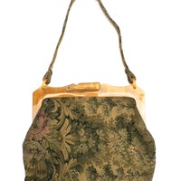 Vintage Ladies Purse Tapestry & Celluloid Frame 1920s