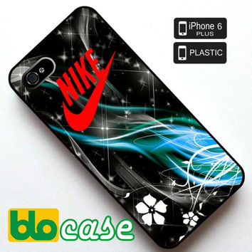 Nike Logo On illusion of Light Wallpaper Iphone 6 Plus Plastic Case