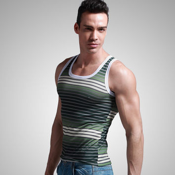Free shipping XUBA Men's vest Basic vest O-neck casual Tank tops 2 Colors Size S M L XL