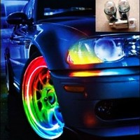 Color Changing LED Car and Bicycle Wheel Lights (Pair)