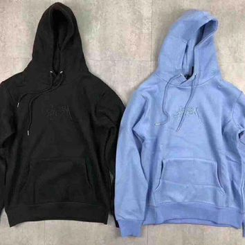 CREYV9O Stussy New Stock App Hood Embroider Fashion Sweater Pullover Sweatshirt G-MG-FSSH