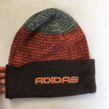 BRAND NEW ADIDAS BROWN AND ORANGE WINTER KNIT HAT SHIPPING