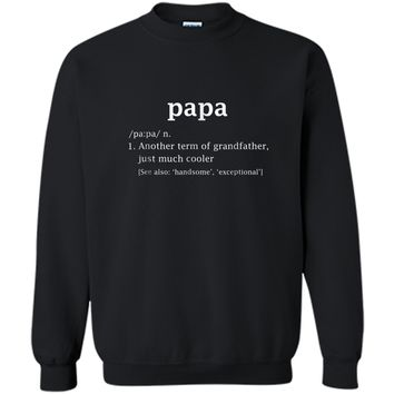 Papa Definition Funny Father's Day Gift For Grandpa T-Shirt