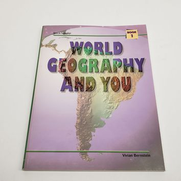 World Geography and You Softcover By Steck Vaughn Volumen 1