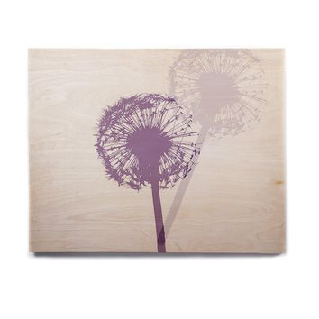 "Monika Strigel ""Dandelion"" Purple Flower Birchwood Wall Art"