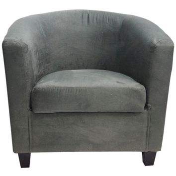 The Contour College Chair - Charcoal Gray Soft Dorm Seating