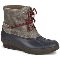 Women's Saltwater Wedge Tide Duck Boot in Grey by Sperry - FINAL SALE