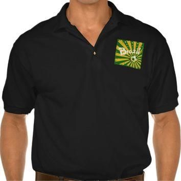 Ola Brazil | Men's Gildan Jersey Polo Shirt, Black