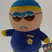 Comedy Central South Park Cartman Policeman Plush Bendable Figure Hankeys Book