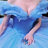 Vnaix Ball Gown Royal Blue Princess Cinderella Quinceanera Dresses