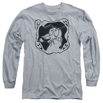 Courage The Cowardly Dog - Ghost Frame Long Sleeve Adult 18/1 Officially Licensed Shirt