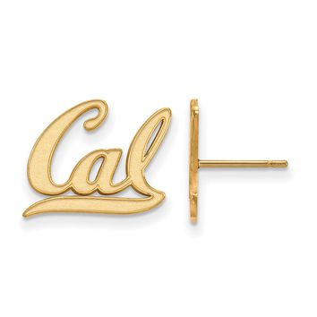 NCAA 14k Gold Plated Silver Cal Berkeley Post Earring