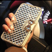 Luxury Bling Diamond Flip Case For iPhone 6/6 Plus /4/4s /5/5c