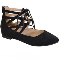 Ella Lace-Up Ballet Flat