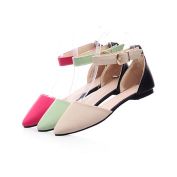 Ankle Straps Flats Fashion Sandals Women Shoes 4325