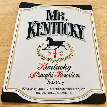 Mr Kentucky Straight Bourbon Whiskey Label