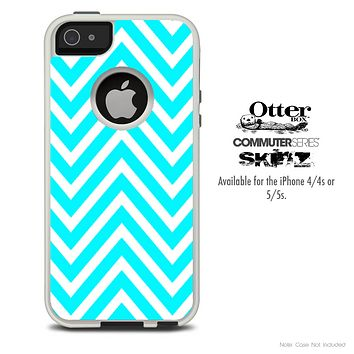 The Sharp Blue Chevron Skin For The iPhone 4-4s or 5-5s Otterbox Commuter Case