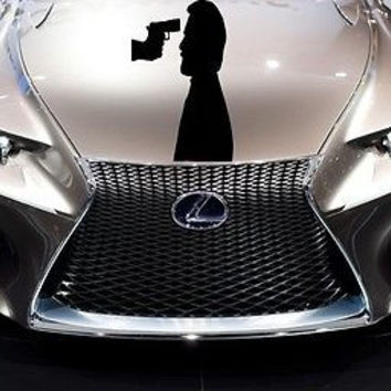 Car Hood Vinyl Decal Graphics Stickers Weapon Gun AB1476